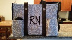 Zip-Top Utility Tote in Taupe Playful Parade from Thirty-One for an RN #thirty-one #nurse
