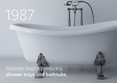 Experience the remarkable history of our company.  #marmite #marmiteSA #bathroom #bathroomdesign #simpledesign #interiordesign #InterieurDesign #schlichtesdesign #modernesdesign #designmoderno