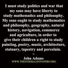 John Adams--on education