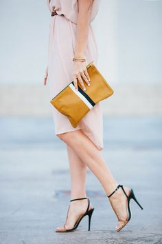 Neutrals and @Clare V clutch via A House in the Hills