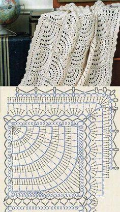 Crochet Motifs, Crochet Diagram, Crochet Stitches Patterns, Crochet Chart, Crochet Squares, Crochet Doilies, Crochet Mandala, Crochet Tablecloth, Granny Squares