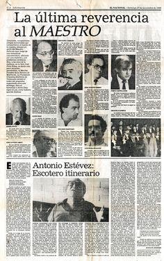 Muerte de Antonio Estévez. Publicado el 27 de noviembre de 1988.