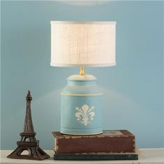 Mini French Canister Table Lamp