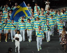 Nick Verreos website has awesome pics of the Parade of Nations - This image is of Sweden's Olympic team.