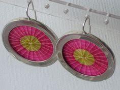 Aros de Crin rosa (artesanía de Chile)