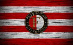 Download wallpapers Feyenoord FC, 4k, Eredivisie, soccer, Holland, football club, Feyenoord, wooden texture, FC Feyenoord