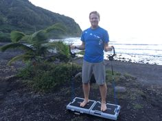 Check out Greg Hartle using his journey gym on the beach in Maui near the Haleakala National Park.