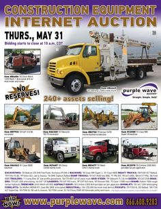 Construction Equipment Auction  May 31, 2012  http://purplewave.co/120531