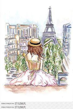 Paris is always a good idea Paris 3, Paris Girl, Paris France, Torre Eiffel Paris, Paris Eiffel Tower, Eiffel Towers, Illustration Parisienne, Illustration Art, Paris Drawing