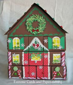 Extreme Cards and Papercrafting: Paper Box Gingerbread Advent Calendar Part 3