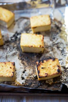 Broiled Tofu Recipe (with three glaze/marinade recipes) Tofu Recipes, Vegetarian Recipes, Recipies, Vegetarian Spring Rolls, Fat Smash Diet, Hoisin Sauce, Food Plating, Food Print, Tasty