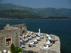Citadel Budva Restaurant.  You can see the lights of the fishing villages over the water at night.  Great food and surprisingly affordable.