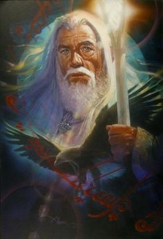 GANDALF, LORD OF THE RINGS FATE WIZARD BY JOHN ALVIN