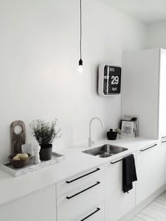 my absolute dream kitchen  I LOVE this   white  marble  Muuto  HAY