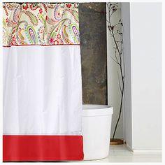 cortina de bao en telas combinadas decoracin bao cortinas