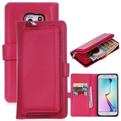 Multifunction Leather Flip For Samsung Galaxy S6 S7 S8 edge S5 Cover 2 in1 Removable Wallet Case Card Slot Stand Holder Funda