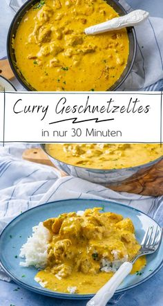 Geniales Curry Geschnetzeltes in nur 30 Minuten - Einfach Malene Raw Food Recipes, Veggie Recipes, New Recipes, Cooking Recipes, Healthy Recipes, Favorite Recipes, Good Food, Yummy Food, Aesthetic Food