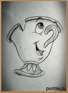 Comment dessiner une puce de Beauty and the Beast Best Picture For art dessin abstrait For Your Tast Disney Character Drawings, Disney Drawings Sketches, Cute Disney Drawings, Art Drawings Sketches Simple, Pencil Art Drawings, Easy Drawings, Drawing Disney, Drawings Of Disney Characters, Cool Cartoon Drawings