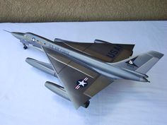 The paint color on this 1/48 Scale B-58 Hustler plastic model airplane is as clean as they come @ http://www.hobbylinc.com/plastic-model-airplanes