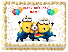 DESPICABLE ME Minions # 3 Edible image cake topper 1/4 sheet, 1/2 sheet, cupcakes and more sizes available