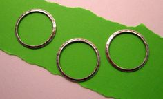 Medium Hammered Ring Connectors from Trinity Brass in Antique Silver - 3 Count by beadbarnsupplies on Etsy