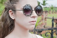Óculos de Sol Feminino Masculino Unisex | Ui! Gafas - #LookBook - Secret / Lace - UI364