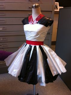 trash bag dress - Google Search