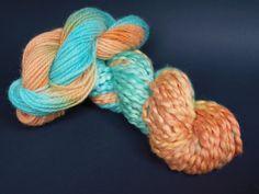 Koi Pond: Hand dyed, hand spun yarn Handmade Items, Handmade Gifts, Hand Dyed Yarn, Hand Spinning, Koi, Knitting, Unique Jewelry, Crocheting, Etsy