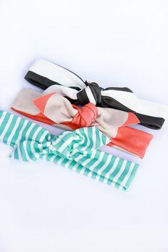 SET of 3 - Choose ANY 3 - Organic Cotton Knit.  Stretchy headband.