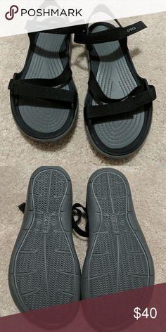 c61ca5b6b9d Nwot crocs Nwot black croc sandals with Velcro straps CROCS Shoes Sandals  Women s Crocs
