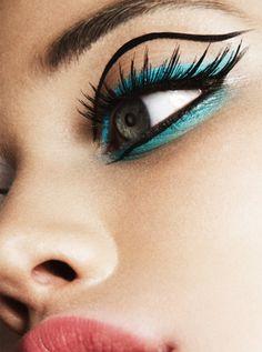 I know need liquid eyeliner, more mascara, and blue eyeshadow...