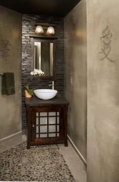 Spa Bathroom Decor Corner Shelves And Feng Shui On Pinterest