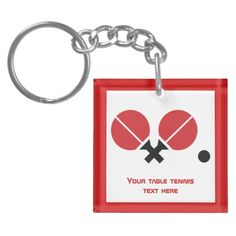 Table tennis ping-pong rackets and ball black, red key chain #tabletennis, #pingpong, #keychain, #rackets