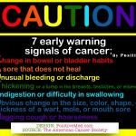 CAUTION: 7 early warning signals of cancer