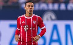 Download wallpapers Thiago Alcantara, football, Bayern Munich, Bundesliga, soccer, footballers