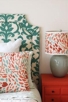 sarah m. dorsey designs: DIY Belgrave Headboard with Ikat Fabric