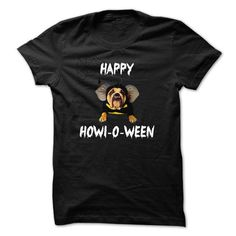 Awesome Dog Lovers Tee Shirts Gift for you or your family your friend:  Happy Howl-o-ween with dog Tee Shirts T-Shirts