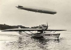LZ 127 Graf Zeppelin & Dornier Superwal. 1928
