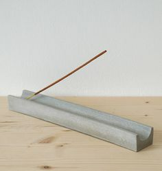 Concrete Incense Holder by MAKE & MATTER, the perfect gift for Explore more unique gifts in our curated marketplace. Diy Incense Holder, Ceramic Incense Holder, Insense Holder, Plywood Furniture, Concrete Crafts, Concrete Lamp, Keramik Design, Sent Bon, Incense Cones