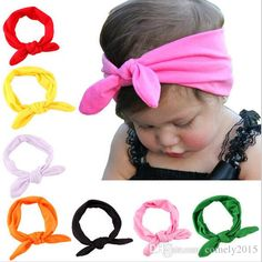 Wholesale-Baby Kids Girls Cotton Headband Knot Tie Headband Headwrap Hair Band Vintage Head Wrap Hair Accessories Online with $16.94/Piece on Comely2015's Store | DHgate.com