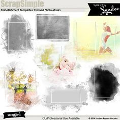 ScrapSimple Embellishment Templates: Framed Masks 2 Digital Scrapbooking Kit by Syndee Nuckles | ScrapGirls.com
