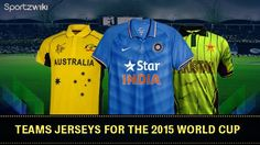 Teams Jerseys for Cricket #WorldCup 2015