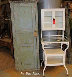 Junk Bonanza 2012  Vintage Medical Cabinet, Primitive chimney cupboard.  Ms. Mac's Antiques #junkbonanza