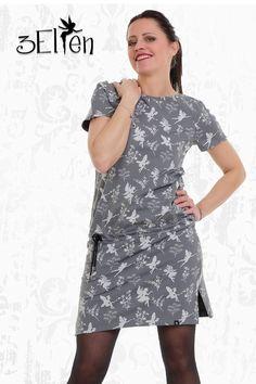 T-Shirt Kleid mit Kordelzug  Unser Raglan Kleid macht an jeder Frau eine tolle Figur! Sein schlichtes Design setzt auf Understatement, weil weniger ist oftmals mehr und Gutes kann so einfach sein! Raglan, Cold Shoulder Dress, Casual, Dresses, Design, Fashion, Perfect Woman, Black Flowers, Elves