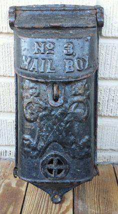 Vintage Cast Iron Griswold No. 3 Mail Box  P/N 353 Figural Design