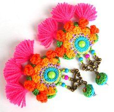 tassel earrings ethnic earrings big earrings statement