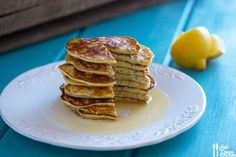 Lemon Poppy Seed Protein Pancakes - sub flax meal/water for eggs