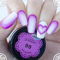 Gradient nails with gel polish Presto