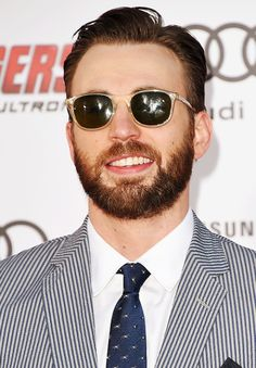 "Chris Evans attends the premiere of Marvel's ""Avengers: Age Of Ultron"" at Dolby Theatre on April 13, 2015 in Hollywood, California"