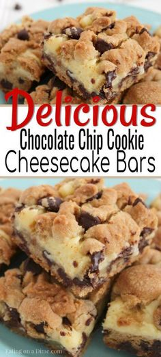 easy cookies You MUST make these delicious and easy chocolate chip cookie cheesecake bars. I promise that everyone in your family will love these simple chocolate chip cookie cheesecake bars! Try making this delicious dessert recipe for your family today! Oreo Dessert, Diy Dessert, Coconut Dessert, Quick Dessert Recipes, Dessert Dips, Party Desserts, Mini Desserts, Easy Delicious Desserts, Easy Healthy Desserts